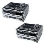 2 x Accu-Case ACF-SA/PROTEK TT PRO Heavy Duty Flight Case for DJ Deck Turntable
